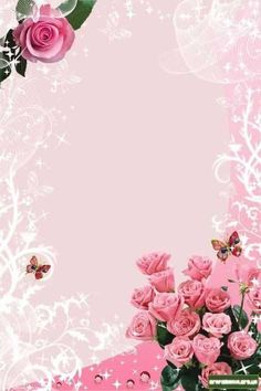 """""""Invitations"""": """"For the special day of. Flower Background Design, Flower Background Wallpaper, Flower Phone Wallpaper, Pink Wallpaper Iphone, Flower Backgrounds, Wallpaper Backgrounds, Wallpapers, Frame Border Design, Page Borders Design"""