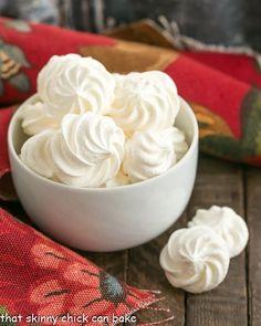 bowl full of simple white Meringue Cookies