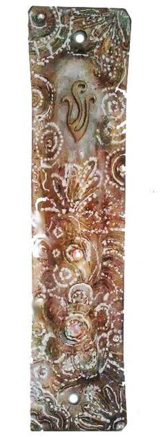 Mezuzah Case Glass scroll Israel Judaica by IrinaSmilansky on Etsy, $55.99