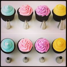 Cupcake piping tutorial.
