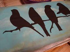 make your own canvas!  For some reason, it never occurred to me to use vinyls as stencils.  Awesome idea!
