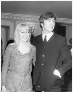 John Lennon with first wife Cynthia Lennon - Cynthia Lillian Lennon is the former wife of musician John Lennon, and mother of Julian Lennon. She grew up in the middle-class section of Hoylake, on the Wirral Peninsula in North West England. Julian Lennon, John Lennon Beatles, Twist And Shout, The Fab Four, Wife And Girlfriend, Ringo Starr, Yoko, Lady And Gentlemen, Paul Mccartney