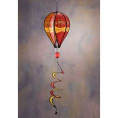 Bsi Products Inc Iowa State Cyclones Hot Air Balloon Spinner Hot Air Balloon Spinner