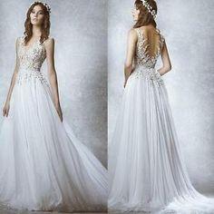 Simple-Open-Back-Sweep-Train-Wedding-Dresses-Chiffon-Bridal-Wedding-Ball-Gowns
