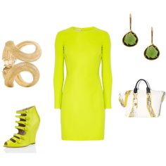 neon, created by akbecca on Polyvore