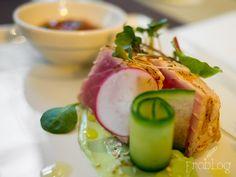 Tuna / Coriander / Avocado / Sesame / Lime at Fusion Restaurant / Westin Hotel in Warsaw