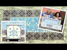 Cómo hacer mosaicos de mayólica con papel de decoupage - Majolica Mosaics on Decoupage Paper - YouTube