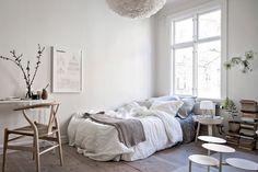 Neutral coloured studio apartment