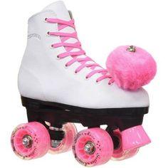 Epic Light-Up Pink Princess Quad Roller Skates