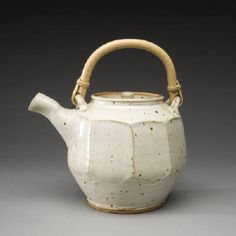 Artist: Warren MacKenzie, Title: Large Tea Pot with Wide Facets - click on image to enlarge