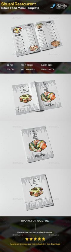 Bifold Fast Food Menu Brochure Template Food menu, Brochure