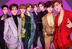 Credit to the owner Exo Cartoon, Exo Anime, Exo Group, Kpop Posters, Exo Fan Art, Aesthetic Pastel Wallpaper, Exo Members, Kpop Fanart, Kyungsoo