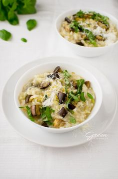 cytrynowe risotto z bakłażanem