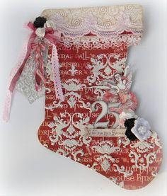Swirlydoos Scrapbook Kits: Christmas Stocking Tutorial