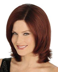 Tempting Auburn Lace Front Chin Length Wigs CSAD0048