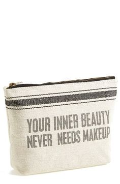 Primitives by Kathy 'Your Inner Beauty Never Needs' Cosmetics Case available at #Nordstrom