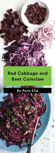 no mayo coleslaw: Cabbage and Beet Coleslaw