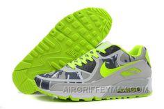 reputable site 2082e 403dc Hot Soldes Boutique En Ligne Fatory Nike Air Max 90 Premium Tape Camo Femme Homme  Grise Vert Jaune Soldes