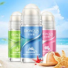 50ml Fresh Ball Body Lotion Antiperspirants Underarm Deodorant Roller Bottle Fragrance Smooth Perfumes Antiperspirant  Women Men