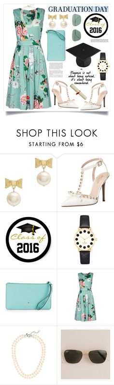 """""""Graduation Day Dress"""" by alaria ❤ liked on Polyvore featuring Kate Spade, Jolie Moi, J.Crew and graduationdaydress"""