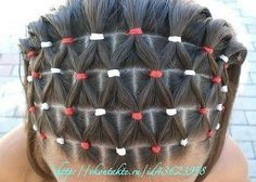 Hairstyle for girls with elastics