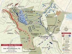 Civil War Battle Maps | Battle of the Wilderness - Orange Turnpike - May 6, 1864