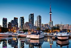 Toronto harbour in Canada