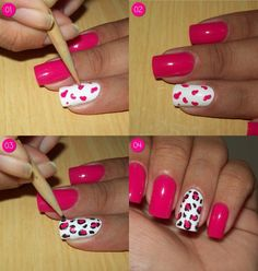 60 Beautiful Pink Nail Art Designs Ideas To become a real pink manicure decoration, to the choice of its colors must be approached thoughtfully. To create it, you can use one or several combined or contrasting color lacquers. Standard pink manicure can Pink Nail Art, Cool Nail Art, Mani Pedi, Manicure And Pedicure, Nail Art Designs, Art Rose, Nail Art Hacks, Nail Tutorials, Love Nails