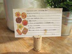 .Cork Recipe Holder