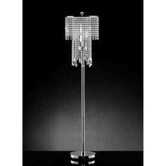 House of Hampton Ryals Candelabra Floor Lamp Black And White Living Room Decor, Glam Bedroom, Crystal Design, Chandelier Lamp, Candelabra, Floor Lamp, Bulb, Ceiling Lights, Flooring