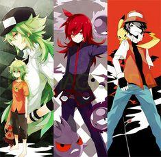 N, Silver, and Red (Pokemon B/W, S/G/HG/SS, and R/B/G/Y)