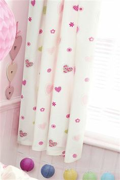 Buy Hearts & Butterflies Pencil Pleat Curtains from the Next UK online shop