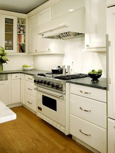 White Cabinets With Black Countertop Design, Pictures, Remodel, Decor and Ideas - page 9