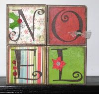 Silent Auction: My idea: Use canvases instead of wood blocks.use Cricut for the lettering. From: Idea Closet: Christmas Christmas Blocks, Christmas Wood Crafts, Christmas Signs, Christmas Projects, Holiday Crafts, Holiday Fun, Christmas Holidays, Christmas Decorations, Christmas Ornaments