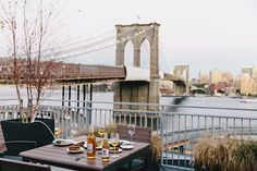 rooftop view over Brooklyn Bridge | Alice Gao photography