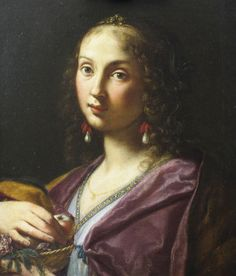 Elisabetta Sirani (Italian, 1638 - 1665) Signora Ortensia Leoni Cordini as Saint Dorothy 1661 Oil on canvas 23 1/8 x 19 5/8 in. Gift of Mr. and Mrs. Marc B. Rojtman 60.5.2 Category: Painting Type: Painting