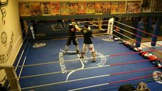 kickboxing sparring match with @tamierie, in preparation of my first fight.