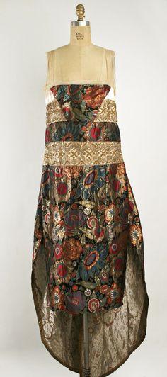 1921 Evening dress. French. Callot Soeurs. Silk, metallic thread. metmuseum