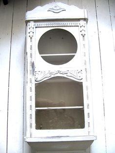 Vintage Schränke - Wandschrank a.altem Uhrenkasten Shabby Gewürzschr. - ein Designerstück von GlueckstagsVintageProettelchen bei DaWanda
