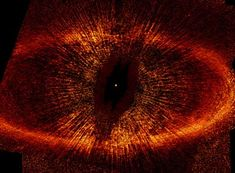 The ring is composed of dust particles in orbit around Fomalhaut, a bright star located just 25 light years away in the constellation Pisces Austalis (Southern Fish). An image that proves that Sauron escaped from Barad-Dur and is plotting his revenge.