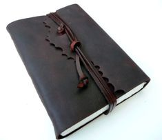 Handmade leather journal or sketchbook by inkitbooks on Etsy