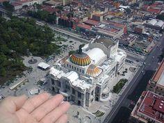 """""""Imaginando que puedo tocar el Palacio de Bellas Artes como si fuese una maqueta, desde el mirador de la Torre Latinoamericana"""", foto 21"""