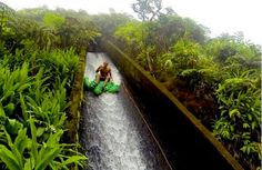 Ride nature's waterslide on the Big Island: