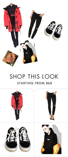 """""""Untitled #3487"""" by oreabe ❤ liked on Polyvore featuring Canada Goose, BLANKNYC, Vans and Petals and Peacocks"""