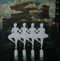 "Saatchi Art Artist: Sergey Mosienko; Oil 2011 Painting ""THE BOLSHOY THEATRE OF LITTLE SWANS . Series ALBA VITA"""""""