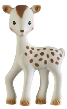 Teether, Fanfan the Fawn,  So Cute! Made from 100% natural rubber.