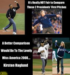 #POTUS: The First Pitch: Real Man vs Sissy Pants #MLB #tcot #TeaParty #PJnet #orpuw #OiP