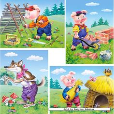 Sequencing Cards, Three Little Pigs, Children's Book Illustration, Kids Education, Story Time, Childrens Books, My Books, Diy And Crafts, Disney