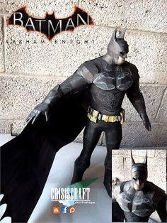 Batman: Arkham Knight - Batman Free Papercraft Download - http://www.papercraftsquare.com/batman-arkham-knight-batman-free-papercraft-download.html#Batman, #BatmanArkhamKnight