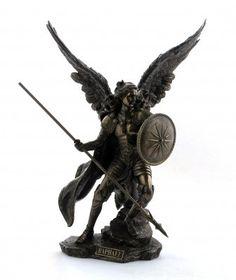 Bronze statue Archangel Raphal: Amazon.co.uk: Kitchen & Home
